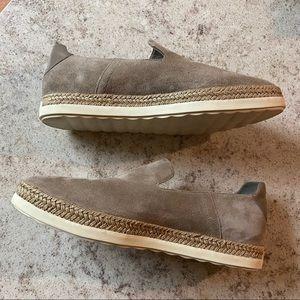 VINCE gray suede Dillon loafer espadrilles SZ 7.5